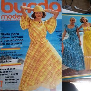 Burda Moden 70s Vintage Fashion Magazine